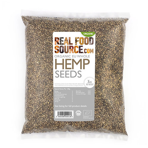 RealFoodSource - Organic Hemp Seeds (1kg)