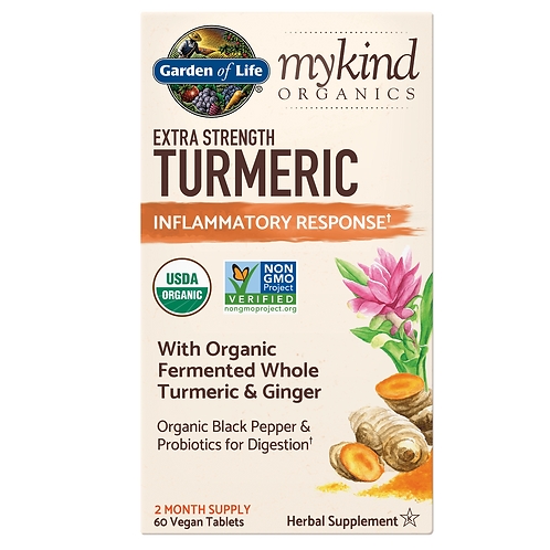 Garden of Life - Extra Strength Turmeric (60 Tablets)