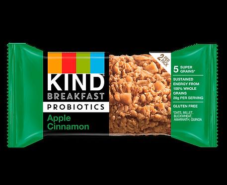 KIND - Probiotics Apple Cinnamon Breakfast Bar x12 bars