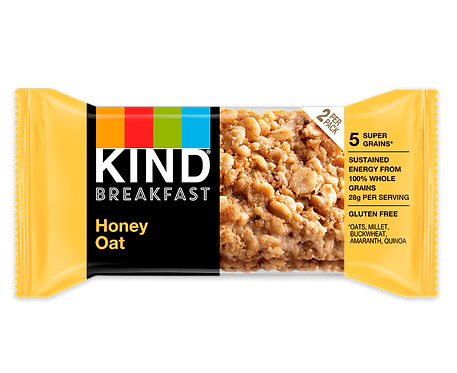 KIND - Honey Oat Breakfast Bar x12 bars