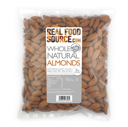 RealFoodSource - Whole Natural Almonds (1kg)