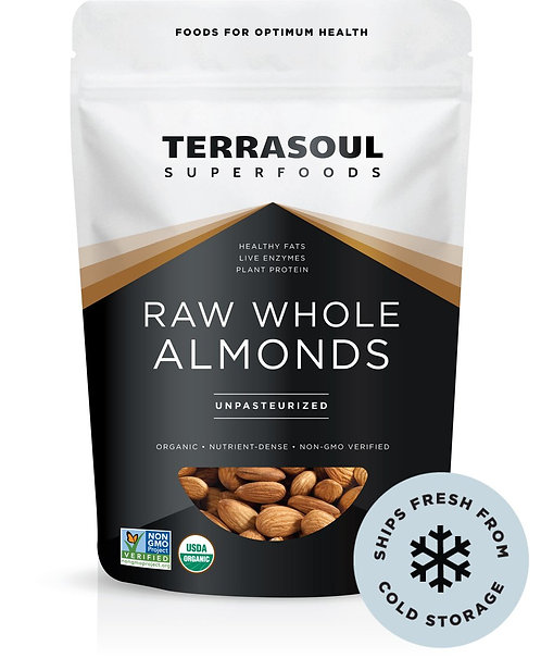 Terrasoul - Raw whole Almonds (16oz)