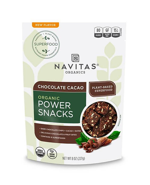 Navitas Organics - Chocolate Cacao Power Snacks (8oz)