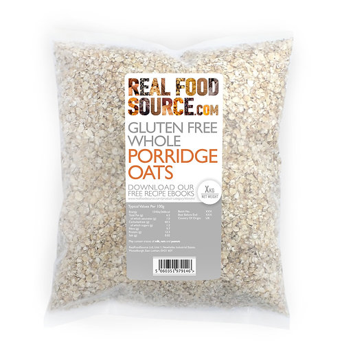 RealFoodSource - Gluten Free Whole Porridge Oats (2kg)
