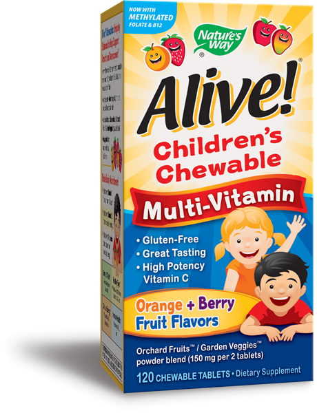Nature's Way - Alive Children's Chewable Multi-Vitamin (60 capsules)