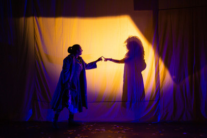 Featuring company member Melissa Carter (in silhouette) and cast member Jordanna Hernandez
