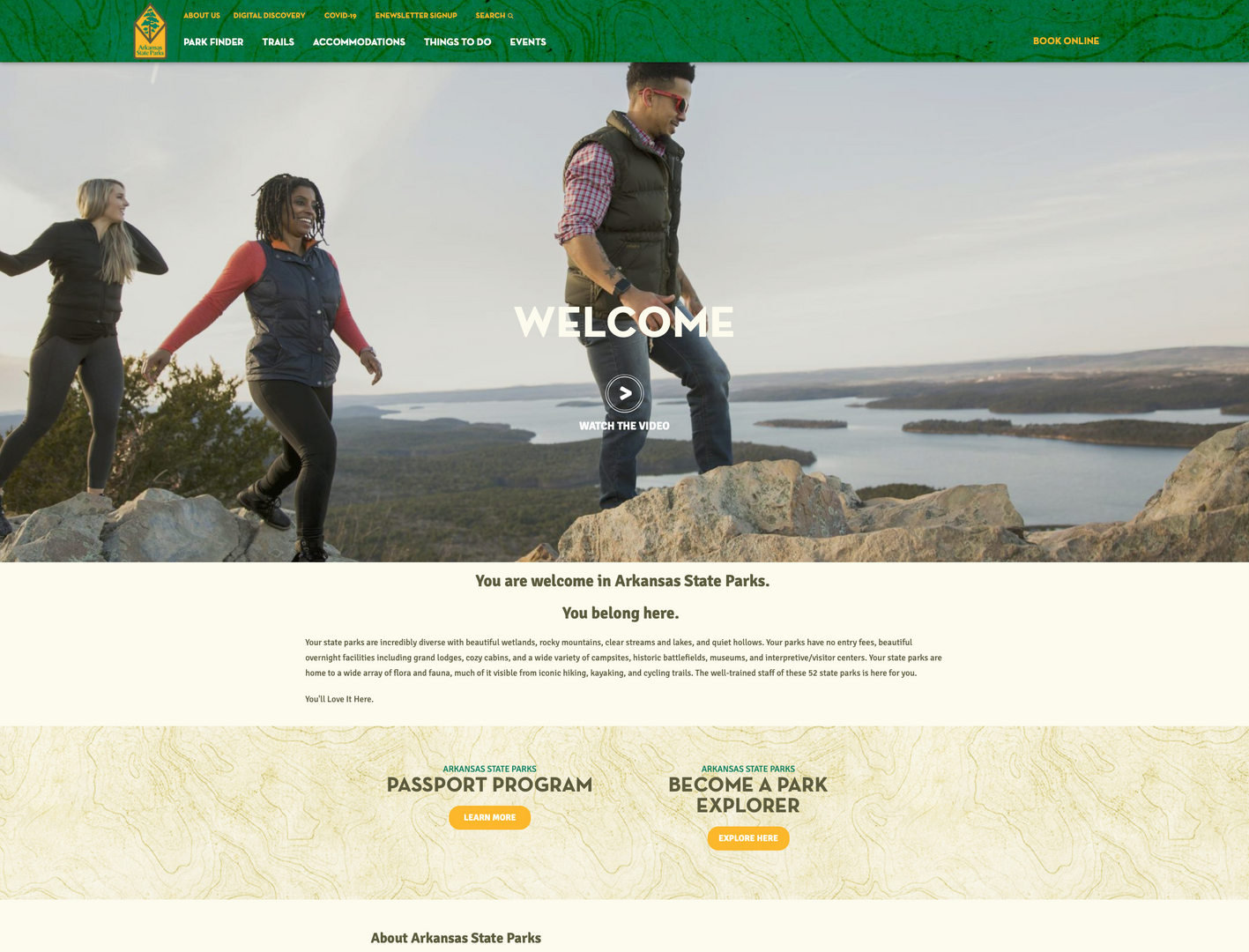 AR State Parks Website Application