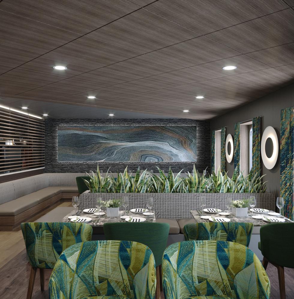 Modern Factory Trawler Restaurant