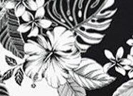 Surfin' Safari Black & White Hibiscus & Plumeria