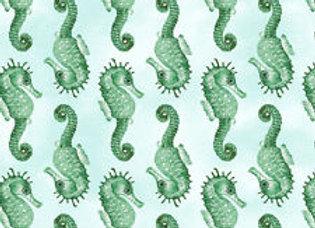 Magical Seahorses Green/Blue