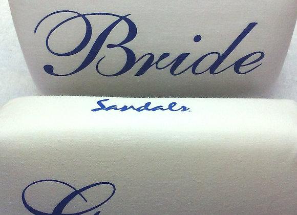 Bride & Groom Set for Sandals Resort - Blue & White