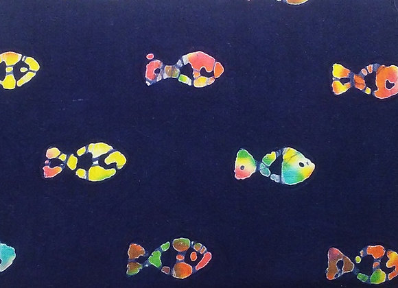 Navy Blue Tie-Dye Fish
