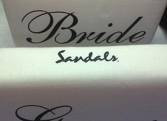 Bride & Groom Set for Sandals Resort - Black & White