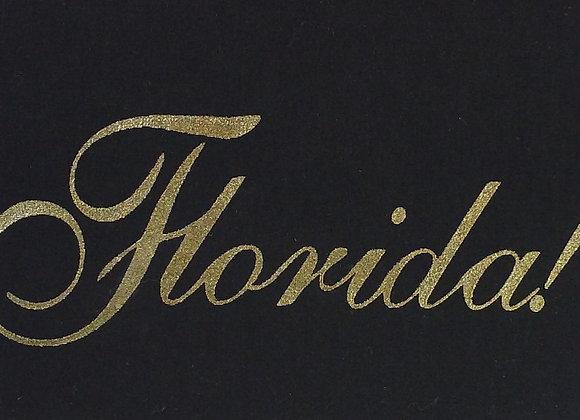 Black & Gold Elegant Florida