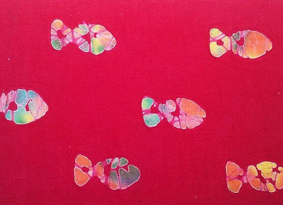 Deep Pink/Red Tie-Dye Fish