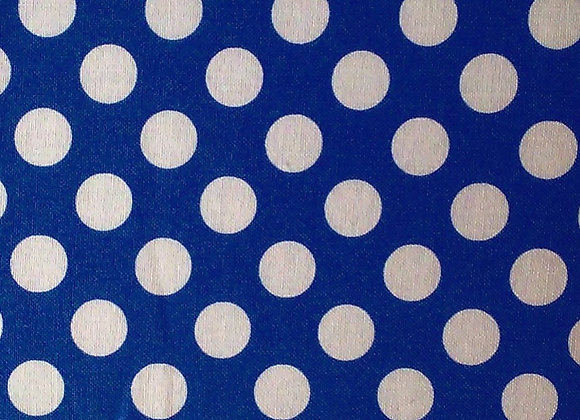 Royal Blue White Polka Dots