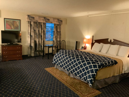 Large guest room with king bed