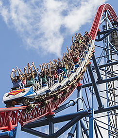 Rollercoaster at Six Flags