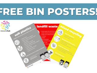 Free bin posters