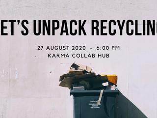 Let's Unpack Recycling - ebook gift below!