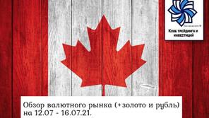 Обзор валютного рынка (+золото и рубль) на 12.07 - 16.07.21.