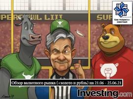 Обзор валютного рынка (+золото и рубль) на 21.06 - 25.06.21. Фундаментум и точки входа.