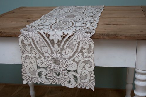 Prachtige antieke tafelloper 123x34