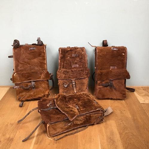Vintage rugzakken van bont