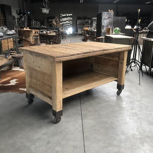 Antieke houten werktafel