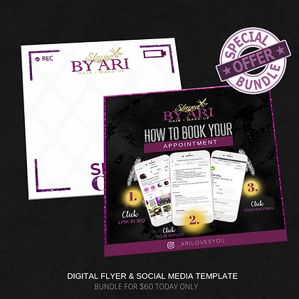 DIGITAL FLYER & SOCIAL MEDIA TEMPLATE BUNDLE
