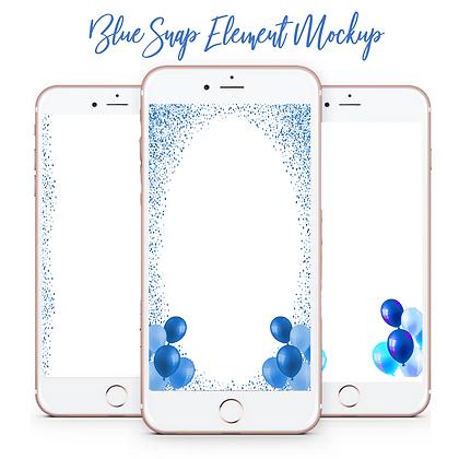 Blue Snap Element Mockup