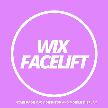 Wix HomePage Facelift