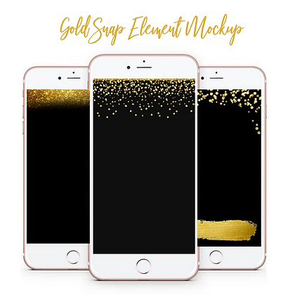 Gold Snap Element Mockup