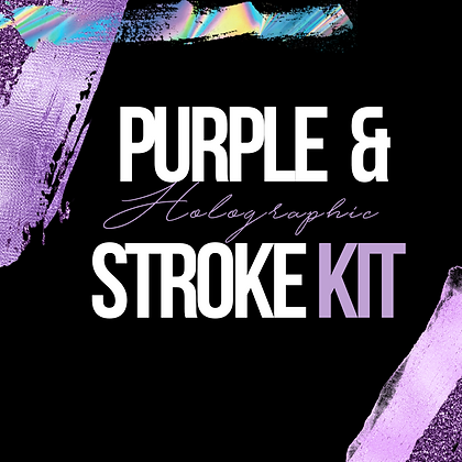 Purple & Holographic Stroke Kit