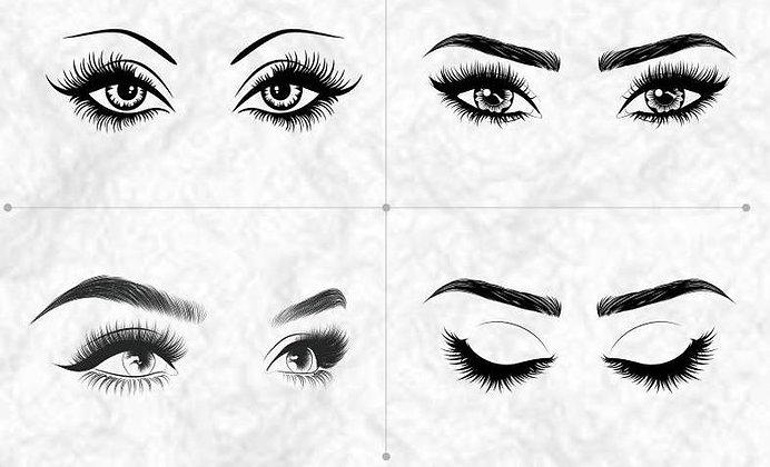 Eyelashes  Bundle