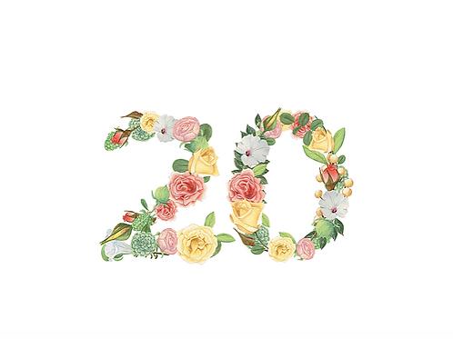 Floral Numbers | PSD DigitalDownload