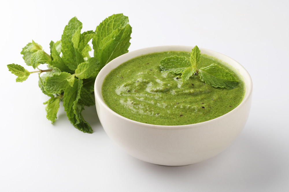 This is a picture of Moji Masala mint chutney
