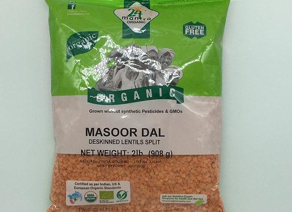 24 Mantra Organic Masoor Dal 2 lbs.