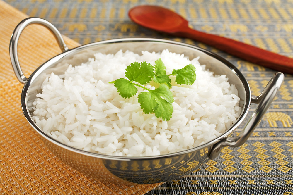 This is a picture of Indian Basmati rice in a bowl