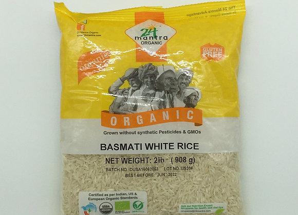 24 Mantra Organic White Basmati Rice 2 lbs.