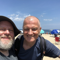 At the beach with Dennis