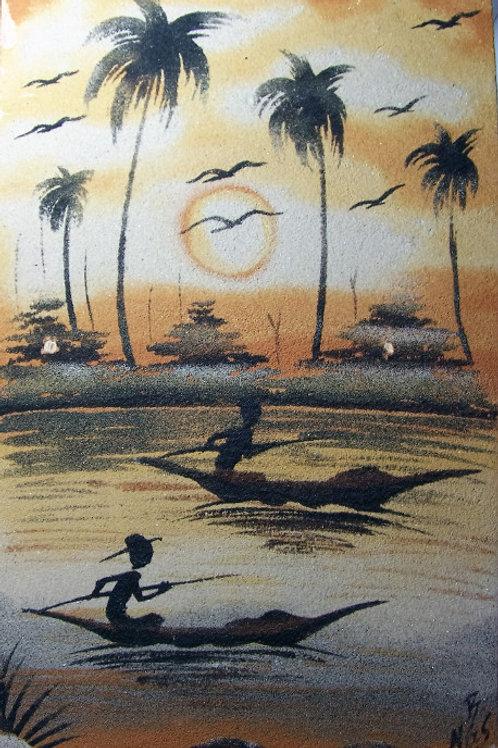Dessin sable coloré
