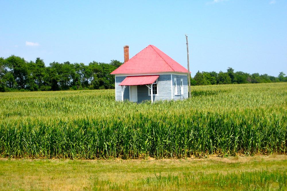 red roof schoolhouse — Virginia