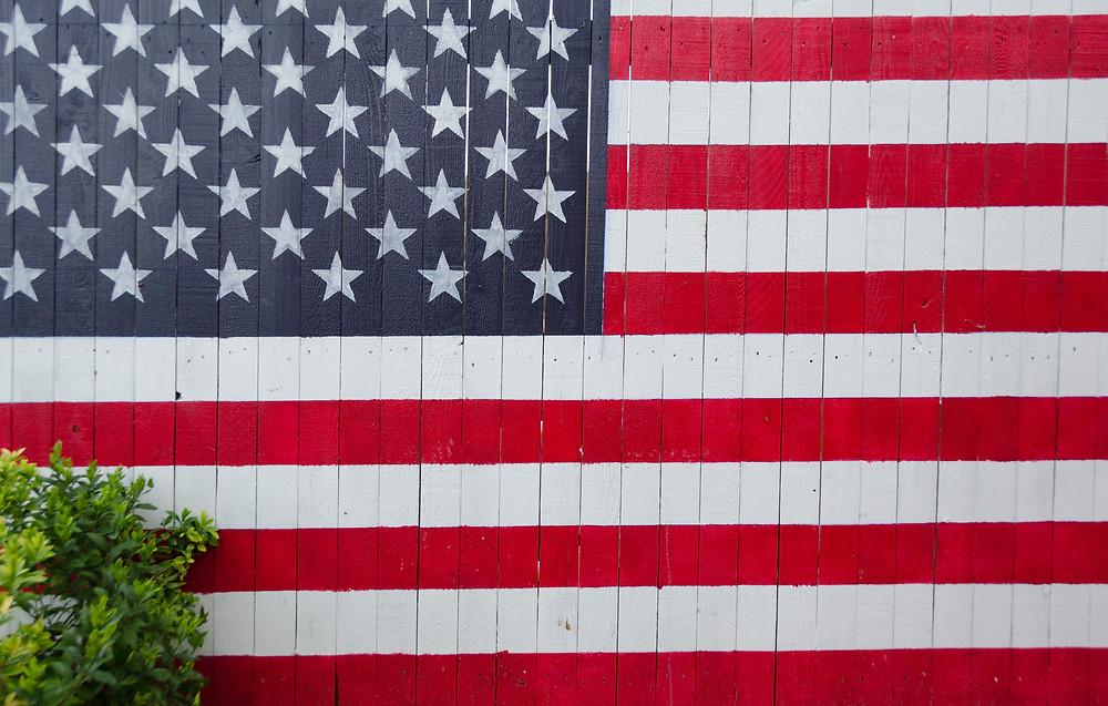 American Flag Fence