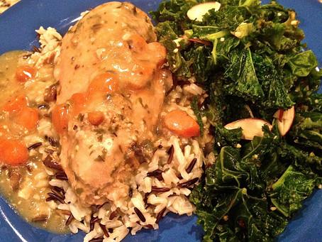 Sunday supper: creamy mushroom tarragon chicken