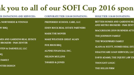 The SOFi Cup 2016 - 3rd Annual Golf Tournament