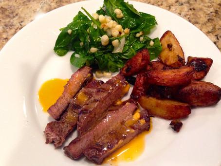 Sunday supper: steak & salad
