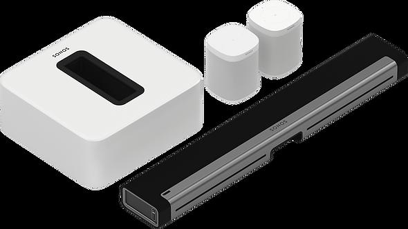 5.1 - Playbar, Sub, & 2 One SLs (White)