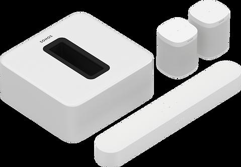 5.1 - Beam, Sub & 2 One SLs (White)