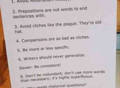 Not All Writing Tips are Created Equal